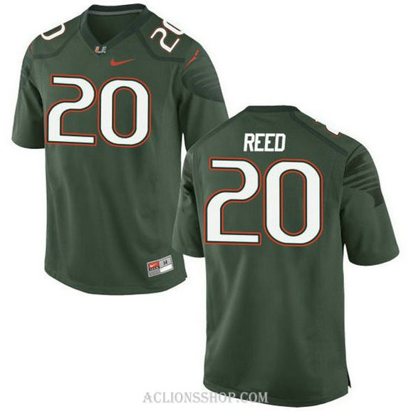Mens Ed Reed Miami Hurricanes #20 Limited Green College Football C76 Jersey