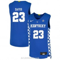 Anthony Davis Kentucky Wildcats #23 Authentic College Basketball Youth C76 Jersey Blue