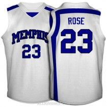 Derrick Rose Memphis Tigers #23 Authentic College Basketball Womens C76 Jersey White