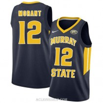 Ja Morant Murray State Racers #12 Authentic College Basketball Mens C76 Jersey Navy