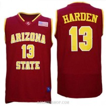 James Harden Arizona State Sun Devils #13 Authentic College Basketball Mens C76 Jersey Red