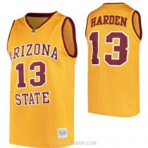 James Harden Arizona State Sun Devils #13 Authentic College Basketball Womens C76 Jersey Gold