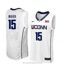 Kemba Walker Uconn Huskies #15 Authentic College Basketball Mens C76 Jersey White
