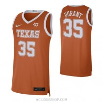 Kevin Durant Texas Longhorns #35 Authentic College Basketball Mens C76 Jersey Orange