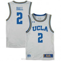 Lonzo Ball Ucla Bruins #2 Authentic College Basketball Youth C76 Jersey White