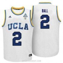 Lonzo Ball Ucla Bruins #2 Limited Adidas College Basketball Mens C76 Jersey White