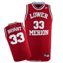 Mens #33 Kobe Bryant High School Jersey Authentic Red