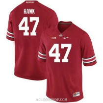 Mens Aj Hawk Ohio State Buckeyes #47 Authentic Red College Football C76 Jersey