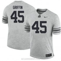 Mens Archie Griffin Ohio State Buckeyes #45 Authentic Grey College Football C76 Jersey