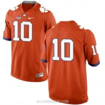 Mens Ben Boulware Clemson Tigers #10 New Style Authentic Orange College Football C76 Jersey No Name
