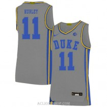 Mens Bobby Hurley Duke Blue Devils #11 Authentic Grey College Basketball C76 Jersey