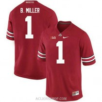 Mens Braxton Miller Ohio State Buckeyes #1 Authentic Red College Football C76 Jersey