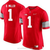 Mens Braxton Miller Ohio State Buckeyes #1 Champions Authentic Red College Football C76 Jersey