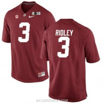 Mens Calvin Ridley Alabama Crimson Tide Authentic 2016th Championship Red College Football C76 Jersey