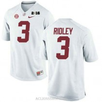 Mens Calvin Ridley Alabama Crimson Tide Limited 2016th Championship White College Football C76 Jersey