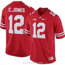 Mens Cardale Jones Ohio State Buckeyes #12 Authentic Red College Football C76 Jersey