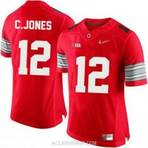 Mens Cardale Jones Ohio State Buckeyes #12 Champions Limited Red College Football C76 Jersey
