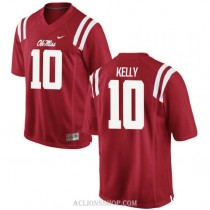 Mens Chad Kelly Ole Miss Rebels #10 Limited Red College Football C76 Jersey