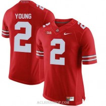 Mens Chase Young Ohio State Buckeyes #2 Authentic Red College Football C76 Jersey