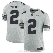 Mens Chase Young Ohio State Buckeyes #2 Game Grey College Football C76 Jersey