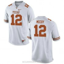 Mens Colt Mccoy Texas Longhorns #12 Authentic White College Football C76 Jersey