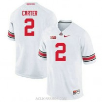 Mens Cris Carter Ohio State Buckeyes #2 Authentic White College Football C76 Jersey