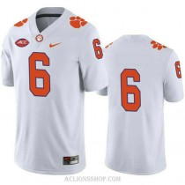Mens Deandre Hopkins Clemson Tigers #6 Limited White College Football C76 Jersey No Name