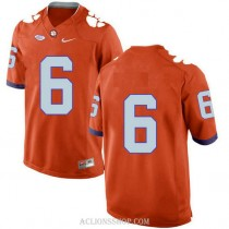 Mens Deandre Hopkins Clemson Tigers #6 New Style Limited Orange College Football C76 Jersey No Name