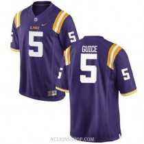 Mens Derrius Guice Lsu Tigers #5 Authentic Purple College Football C76 Jersey