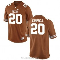 Mens Earl Campbell Texas Longhorns #20 Authentic Orange College Football C76 Jersey