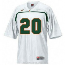 Mens Ed Reed Miami Hurricanes #20 Game White College Football C76 Jersey
