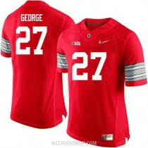 Mens Eddie George Ohio State Buckeyes #27 Champions Authentic Red College Football C76 Jersey