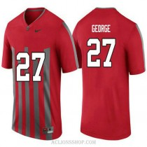 Mens Eddie George Ohio State Buckeyes #27 Throwback Limited Red College Football C76 Jersey