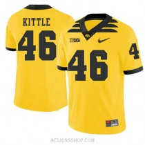 Mens George Kittle Iowa Hawkeyes #46 Authentic Gold Alternate College Football C76 Jersey
