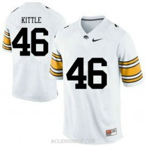 Mens George Kittle Iowa Hawkeyes #46 Authentic White College Football C76 Jersey