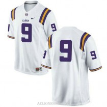 Mens Grant Delpit Lsu Tigers #9 Authentic White College Football C76 Jersey No Name