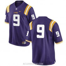 Mens Grant Delpit Lsu Tigers #9 Game Purple College Football C76 Jersey No Name