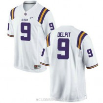 Mens Grant Delpit Lsu Tigers #9 Game White College Football C76 Jersey