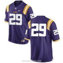Mens Greedy Williams Lsu Tigers #29 Authentic Purple College Football C76 Jersey No Name