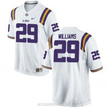 Mens Greedy Williams Lsu Tigers #29 Authentic White College Football C76 Jersey