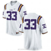 Mens Jamal Adams Lsu Tigers #33 Authentic White College Football C76 Jersey No Name
