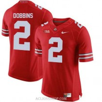 Mens Jk Dobbins Ohio State Buckeyes #2 Authentic Red College Football C76 Jersey