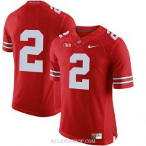 Mens Jk Dobbins Ohio State Buckeyes #2 Authentic Red College Football C76 Jersey No Name