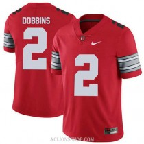Mens Jk Dobbins Ohio State Buckeyes #2 Champions Authentic Red College Football C76 Jersey