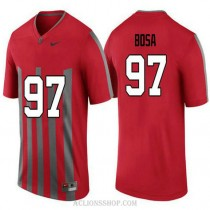 Mens Joey Bosa Ohio State Buckeyes #97 Throwback Authentic Red College Football C76 Jersey