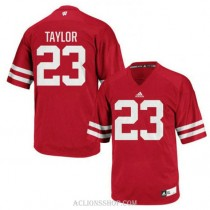 Mens Jonathan Taylor Wisconsin Badgers #23 Game Red College Football C76 Jersey