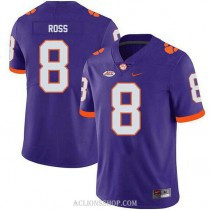Mens Justyn Ross Clemson Tigers #8 Authentic Purple College Football C76 Jersey