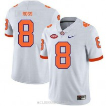 Mens Justyn Ross Clemson Tigers #8 Game White College Football C76 Jersey