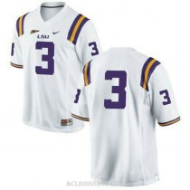 Mens Kevin Faulk Lsu Tigers #3 Authentic White College Football C76 Jersey No Name