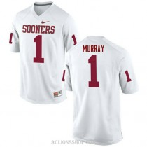 Mens Kyler Murray Oklahoma Sooners #1 Authentic White College Football C76 Jersey